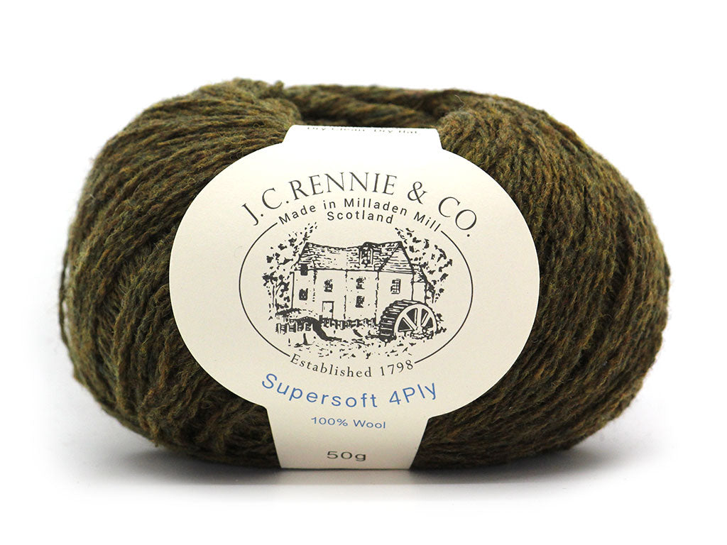 Supersoft 4ply - Dark Olive 1277