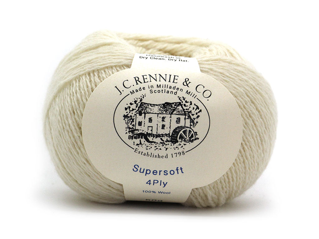 Supersoft 4ply - Ecra White 100