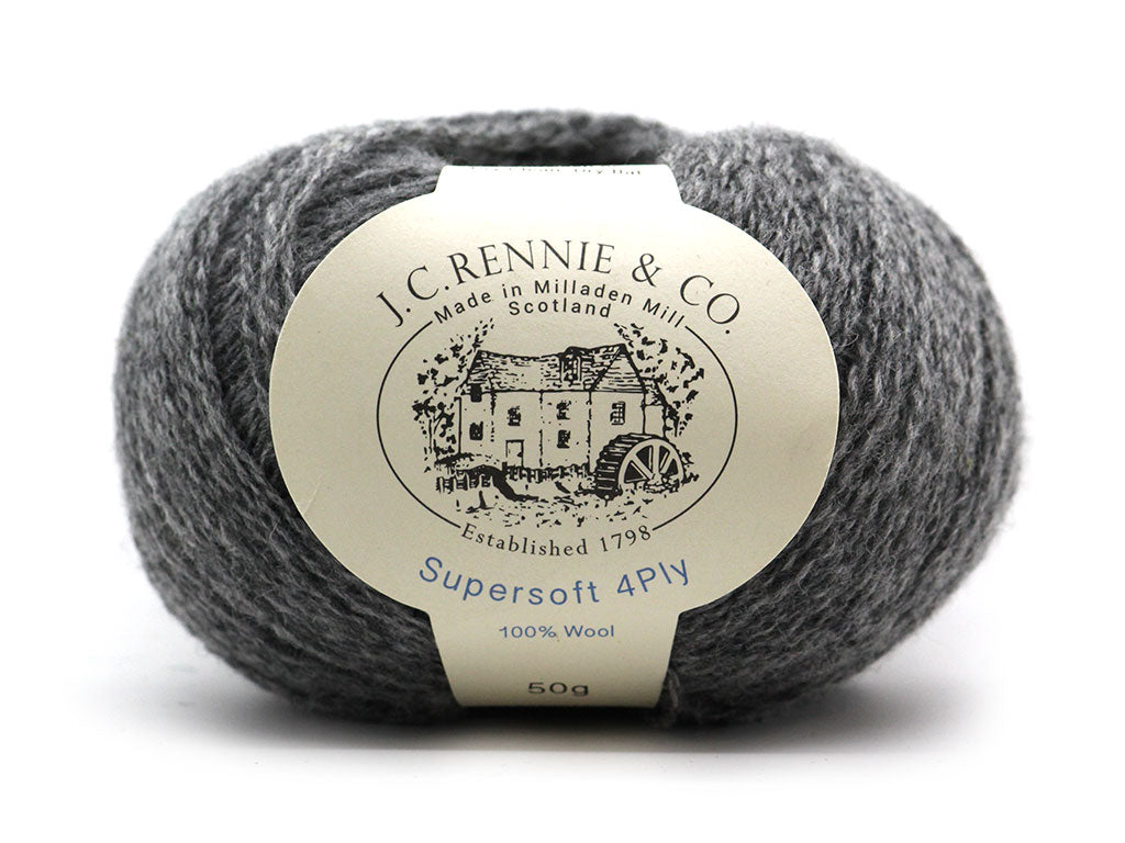 Supersoft 4ply - Medium Grey 030