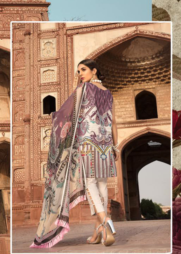 01 A - Emaan Eshaal - Luxury Festive Lawn 2019 - Unstitched - Embroidered designer lawn suits original - Memsaab Online