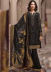 01 Royelle - A - SHAHNAMEH Embroidered Chiffon by Jazmin - Unstitched Pakistani elite Designer suit ORIGINAL - Memsaab Online