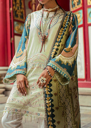 01 Mint Odyssey - Epoque Suffuse by Sana Yasir Lawn 2019 - Embroidered Pakistani designerwear UK Delivery - Memsaab Online