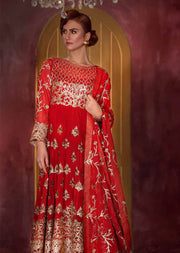 02 Wine Daisies - Red - Sofia Khas - Readymade Pakistani designer suit - UK Delivery - Memsaab Online