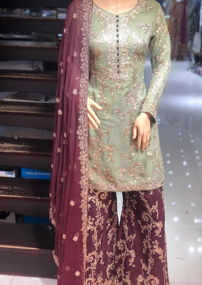 PS0370 Passion - Readymade Shararah Suit - Memsaab Online