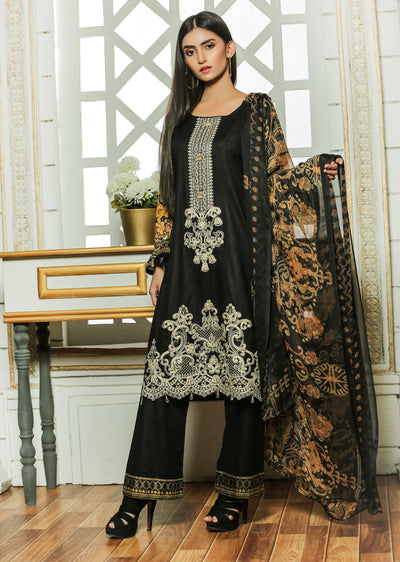03 Ubrooj by Memsaab - Black - Pakistani Readymade Embroidered Lawn Suits - Memsaab Online