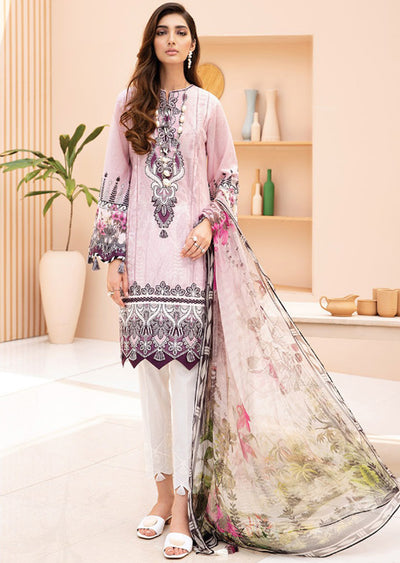 03 Nilufer - Iris Embroidered Lawn Collection Vol 2 by Jazmin - Memsaab Online