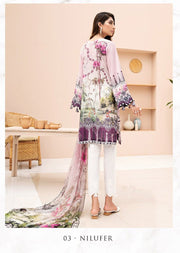 03 Nilufer - Iris Readymade Embroidered Lawn Collection Vol 2 by Jazmin - Memsaab Online