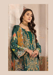 03 B - Emaan Eshaal - Luxury Festive Lawn 2019 - Unstitched - Embroidered designer lawn suits original - Memsaab Online