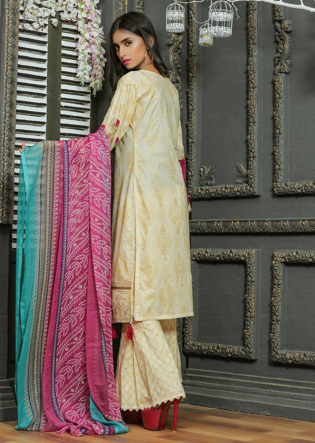 03 Ubrooj by Memsaab - Gold - Pakistani Readymade Embroidered Lawn Suits - Memsaab Online