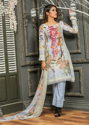 04 Ubrooj - Lilac - Unstitched Embroidered High Quality Lawn Suit - Memsaab Online