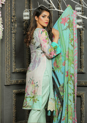 05 Ubrooj by Memsaab - Light Blue - Pakistani Readymade Embroidered Lawn Suits - Memsaab Online