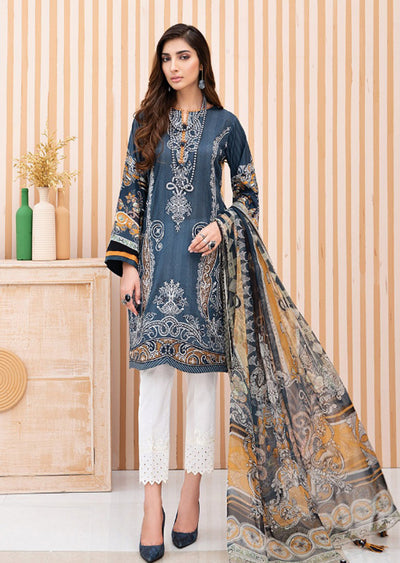 06 Miral - Iris Embroidered Lawn Collection Vol 2 by Jazmin - Memsaab Online