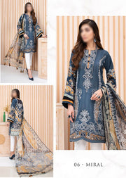 06 Miral - Iris Readymade Embroidered Lawn Collection Vol 2 by Jazmin - Memsaab Online