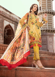06 A - Emaan Eshaal - Luxury Festive Lawn 2019 - Unstitched - Embroidered designer lawn suits original - Memsaab Online