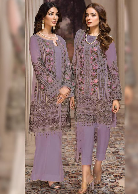 06 Nafeesa - A - SHAHNAMEH Embroidered by Jazmin Chiffon - Unstitched Pakistani elite Designer suit ORIGINAL - Memsaab Online