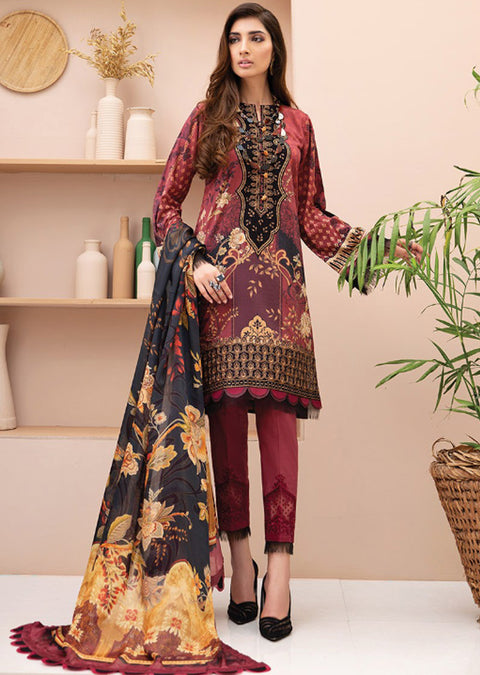 07 Diral - Iris Embroidered Lawn Collection Vol 2 by Jazmin - Memsaab Online