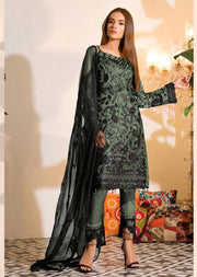 Mint Unstitched Ramsha Inspired Affan Creation Embroidered Net Suit - Memsaab Online