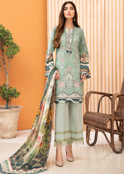 08 Mirel - Iris Embroidered Lawn Collection Vol 2 by Jazmin - Memsaab Online