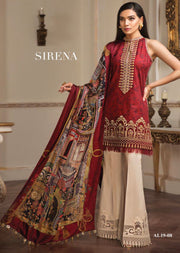 AL08 SIRENA ANAYA BY KIRAN CHAUDHRY 2019 PAKISTANI LAWN COLLECTION - Memsaab Online