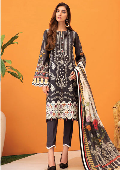 09 Sayel - Iris Embroidered Lawn Collection Vol 2 by Jazmin - Memsaab Online