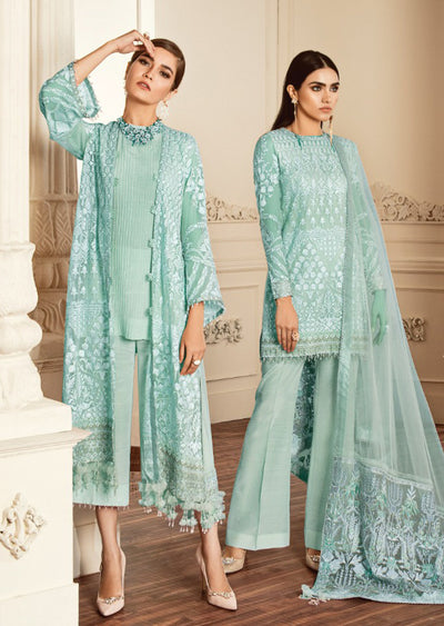 09 - E - Unstitched - Dove Chantelle Embroidered Chiffon ORIGINAL - Memsaab Online