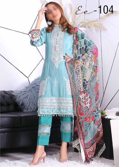 EA104 - Unstitched - Eshaeman Linen Collection 2020 - Memsaab Online
