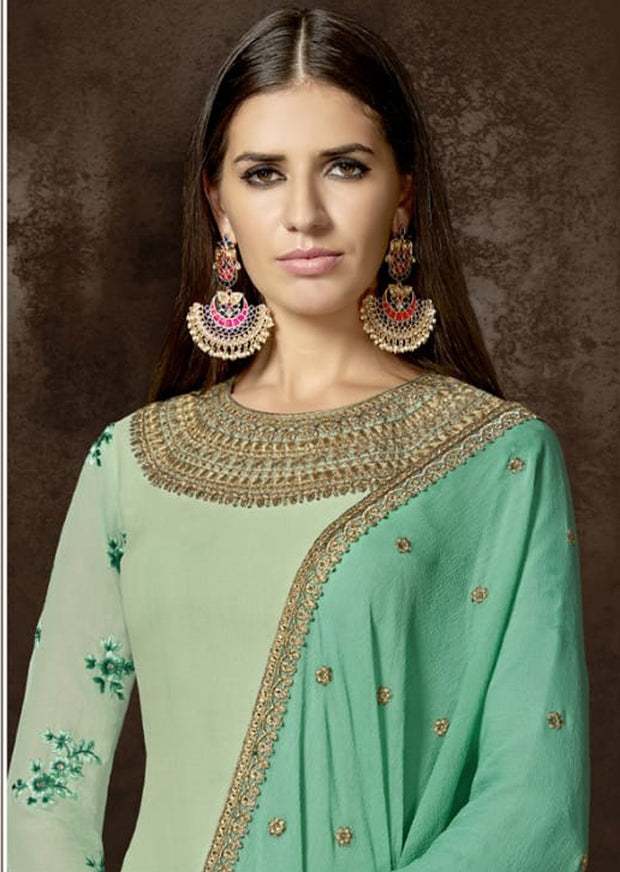 A - Mehreen By Nakkashi Unstitched Collection 2019 - Indian Salwar Kameez Suits - Memsaab Online