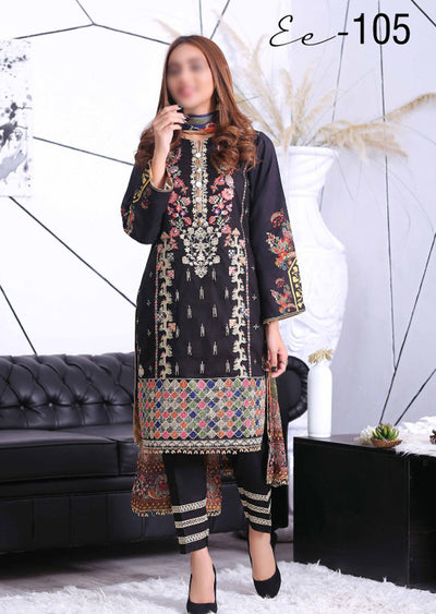 EA105 - Unstitched - Eshaeman Linen Collection 2020 - Memsaab Online
