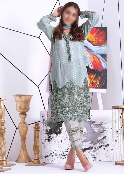 EA106 - Unstitched - Eshaeman Linen Collection 2020 - Memsaab Online