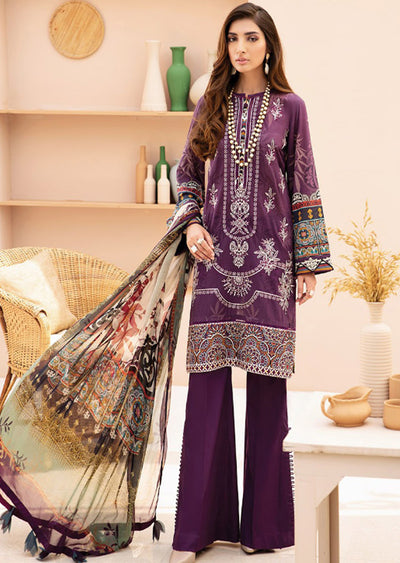10 Alanya - Iris Embroidered Lawn Collection Vol 2 by Jazmin - Memsaab Online