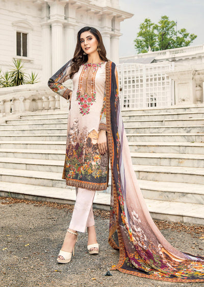NS10 - Unstitched - Nishat Maysoori Embroidered Collection Vol 1 - Memsaab Online