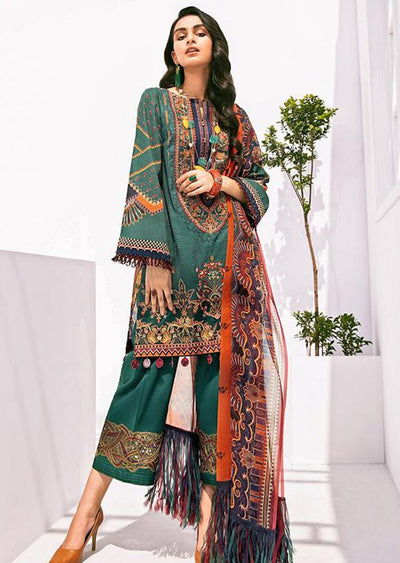 FHD10R Readymade Baroque Inspired Linen Embroidered Suit - Memsaab Online