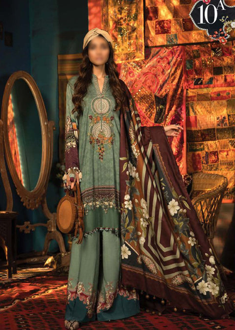 MPT-910-A - Unstitched - Maria B M.Prints Winter Collection 2020 - Memsaab Online