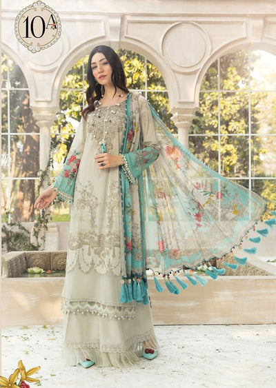 MBS10 - A - Unstitched - Maria B MPrints Summer Collection 2020 - Memsaab Online