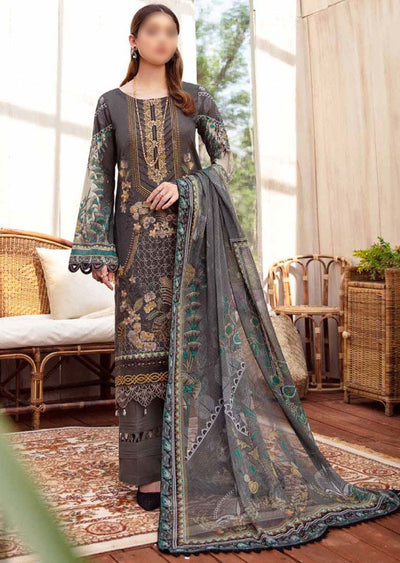 RM-10R - Readymade - Ramsha Chevron Lawn Collection Vol 6 - Memsaab Online