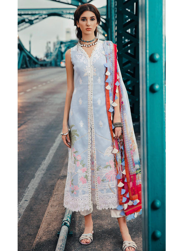 10 Miniature - Epoque Suffuse by Sana Yasir Lawn 2019 - Embroidered Pakistani designerwear UK Delivery - Memsaab Online