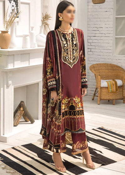 FBR10 - Unstitched - Farasha by Baroque Replica 2020 - Memsaab Online