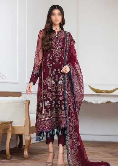 JAZ10 - Soumaz - Unstitched - Jazmin Mahpare Luxury Chiffon Collection 2020 - Memsaab Online