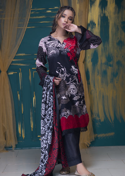 AMT1510 - Red - Readymade Winter Khadder - Pakistani Designer - Memsaab Online