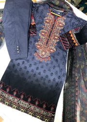 BA2611 B Readymade Embroidered Lawn Suit - Memsaab Online