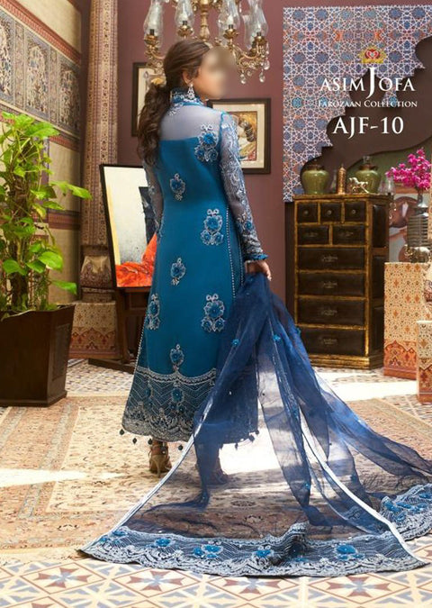 AJF10 - Unstitched - Farozaan Collection by Asim Jofa 2020 - Memsaab Online
