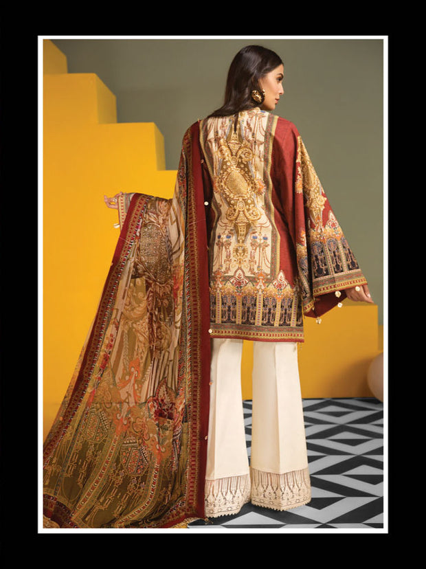 AMELIA - VIVA - Anaya by Kiran Chaudhry - Unstitched Pakistani Embroidered Lawn Collection - Lowest Price UK - Memsaab Online