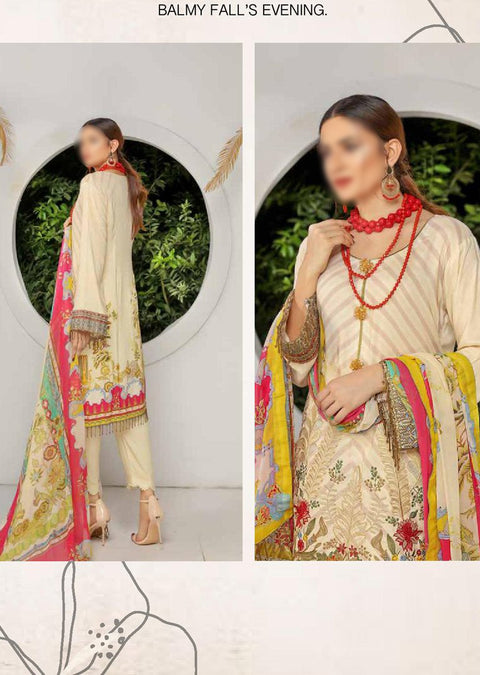 NH10 - Unstitched - Pre Fall Linen Collection by Nisha Designer 2020 - Memsaab Online