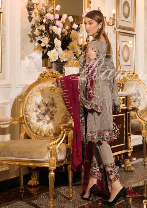 Ramsha Vol 16 - READYMADE Eid Embroidered Chiffon Collection 2019 Pakistani Designer wear - Memsaab Online