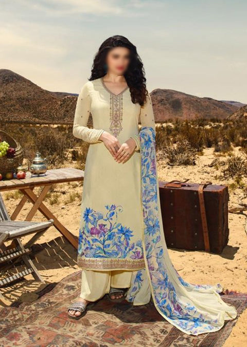 11852 - Unstitched - Silkina Inspired Royal Crepe Vol 28 Collection by Vinay 2020 - Memsaab Online
