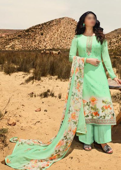 11855 - Unstitched - Silkina Inspired Royal Crepe Vol 28 Collection by Vinay 2020 - Memsaab Online