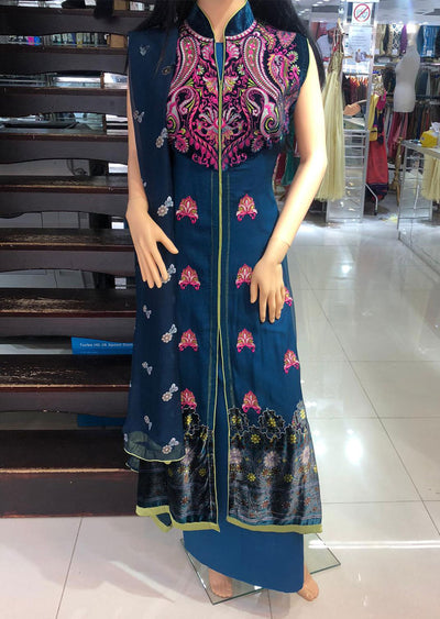 1199 F Teal Readymade 2 Piece Suit - Memsaab Online