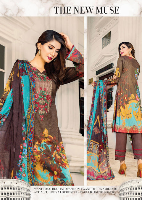 NS11 - Unstitched - Nishat Maysoori Embroidered Collection Vol 1 - Memsaab Online