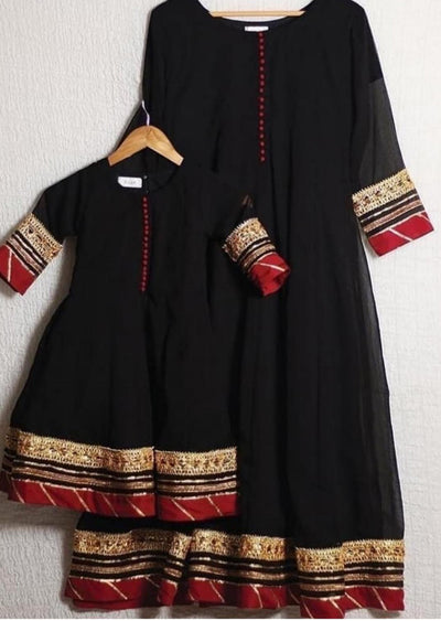 MR1121K Kids Readymade Black Gown - Memsaab Online