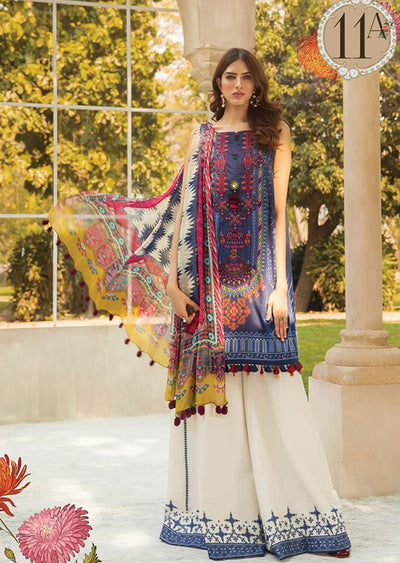 MBS11 - A - Unstitched - Maria B MPrints Summer Collection 2020 - Memsaab Online